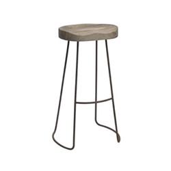 Loko Tall stool, 75.5 x 38.5 x 28cm, mango wood and rust