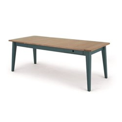 Ralph Extending dining table, H77 x W214 x D87cm, oak/teal