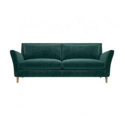 Keele Velvet 3 seater sofa, W220 x H84 x D91cm, emerald green