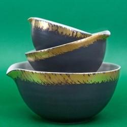 John Whaite Nested Bowls, H9.5cm, blue