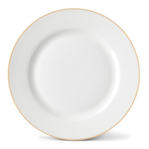 Rainbow Collection Side plate, 20cm, gold rim