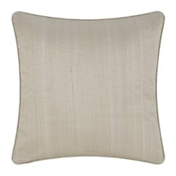 Silk cushion, 45 x 45cm, ivory