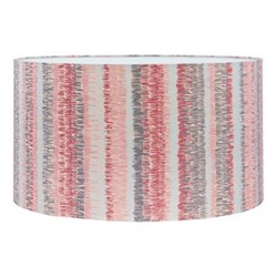 Textured Stripe Extra large drum lampshade, W45 x H25cm, oyster/storm