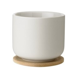 Theo by Francis Cayouette Cup with coaster, H8cm, sand