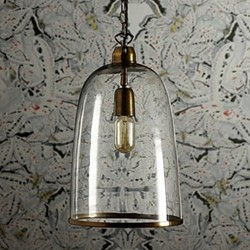Percy Medium pendant light, D24 x H33cm, brass chain