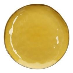 Concerto Set of 4 dinner plates, Dia27cm, yellow