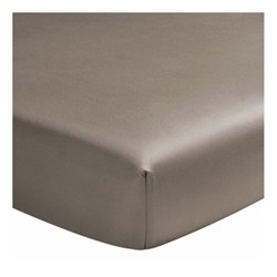 Teo Double fitted sheet, W140 x L190cm, mink