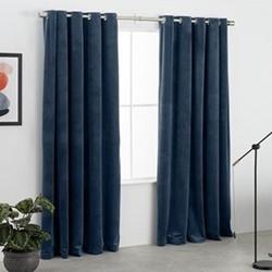 Julius Pair of curtains, 168 x 228cm, ink blue