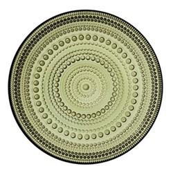 Kastehelmi Plate, 17cm, moss green