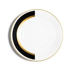Arc Tea saucer, D14.5cm, matte black/burnished gold