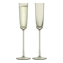 Champagne Theatre Pair of champagne flutes, 120ml, smoke grey