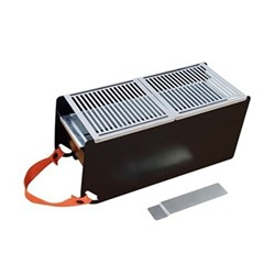 Yaki Portable barbeque, L41 x W18 x H17cm, black