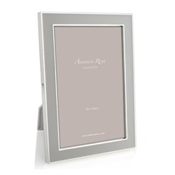 "Enamel Range Photograph frame, 4 x 6"" with 15mm border, chiffon with silver plate"