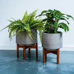 Vigo Planter with stand, H37 x W28 x D28cm, concrete
