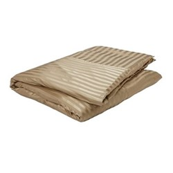 Fraser Stripe Super king duvet cover, L260 x W220cm, sand