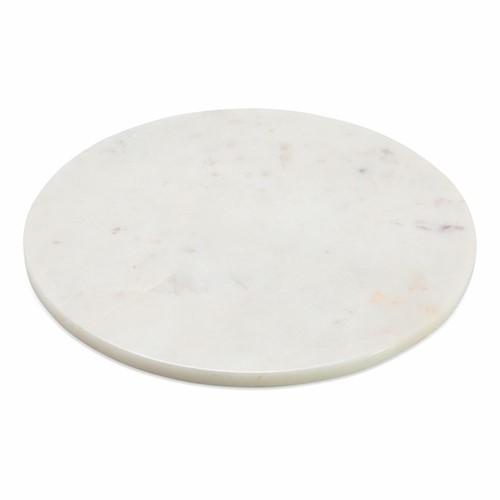Esa Marble table mat, Dia28.5cm, white