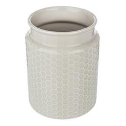 Utensil pot, Dia14 x H18cm, grey stoneware