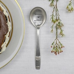 Spoonful Of Happiness Dessert spoon, 16cm, silver plated