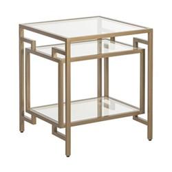 Architect Side table, W46.5 x H59.5 x D46.5cm, gold