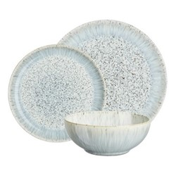 Halo Speckle 12 piece breakfast set, white/grey