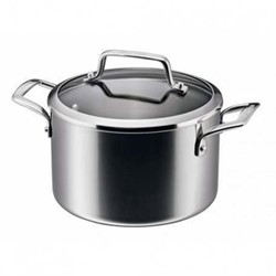 Authority Multi-Ply Clad Stockpot with lid, 3.8 litre - 20cm, stainless steel