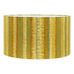 Textured Stripe Extra large drum lampshade, W45 x H25cm, turmeric/storm