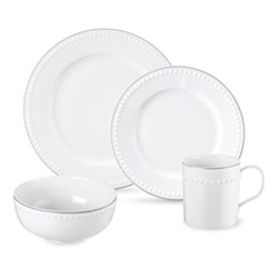 Signature 16 piece dinner set, ivory