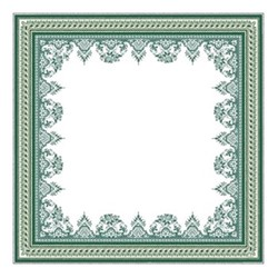 Les Depareillées Tablecloth, 120 x 120cm, green