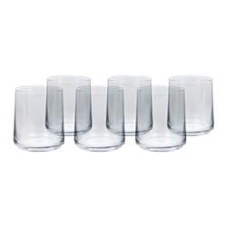 Hoxton Set of 6 tumblers, H9.5 x W8.6cm, clear