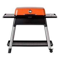 Furnace Gas barbeque with stand, H107 x D74 x W131cm, orange