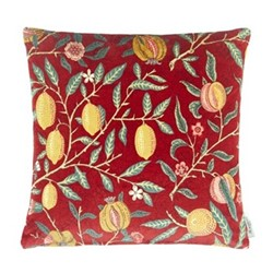 Fruit Velvet Cushion, W50 x L50cm, red
