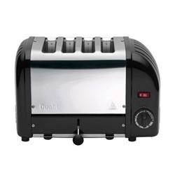 Classic Vario 4 slot toaster - 40344, black