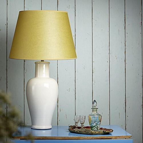 Lolita Medium table lamp - base only, H44 x W18cm, stone