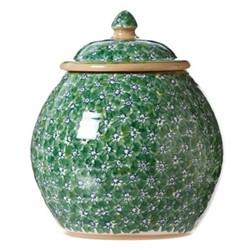 Lawn Cookie jar, H22.9 x W10.8cm, green