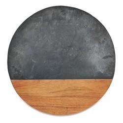 Fala Round chopping board, Dia40cm, slate & acacia