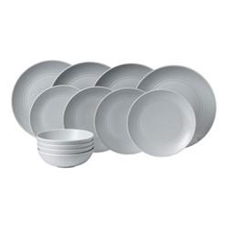 Gordon Ramsay - Maze 12 piece dinner set, light grey