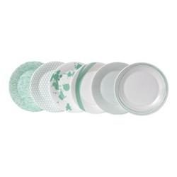 Pacific - Assorted Set of 6 salad plates, 23cm, mint