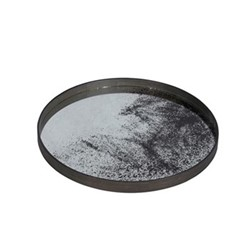 Heavy Aged Large mirror tray, D61 x H4cm