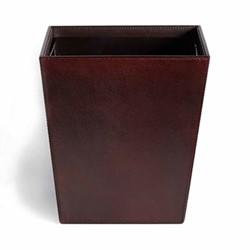 Meard Leather bin, H26 x W31cm, brown