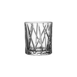 City Set of 4 whiskey glasses, 25cl - H8.7 x W7.8cm, glass