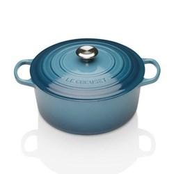 Signature Cast Iron Round casserole, 24cm - 4.2 litre, marine