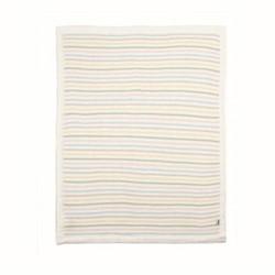 Multi Stripe Knitted blanket, 70 x 90cm