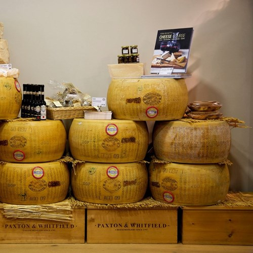 Private after-hours cheese and wine tasting at Paxton and Whitfield