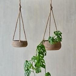 Wampu Hanging Planter Small Distressed Terracotta, Small