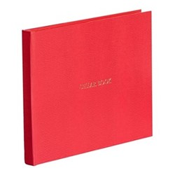 Oyster Bay Large cellar book, L22 x W28.5cm, red lizard print