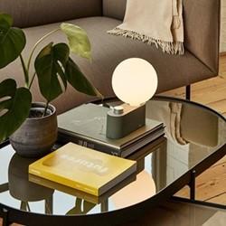 Alumina Table lamp, L28 x W15cm, Sage