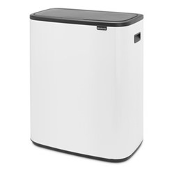 Bo Touch bin, 60 litre, white