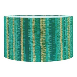 Textured Stripe Extra large drum lampshade, W45 x H25cm, moss
