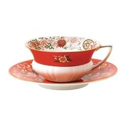 Wonderlust - Orient Teacup and saucer, 15cl, crimson