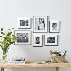Fine Black Gallery Set of 6 frames, black
